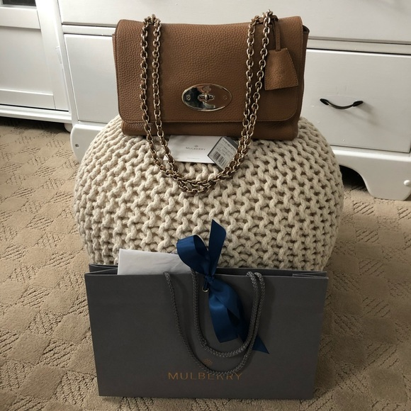 bc88dfefbafd Authentic Mulberry Medium Lily bag in Deer Brown